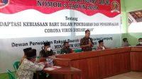 Mingrum Gumay Sosialisasi Perda Covid 19 di Simbarwaringin Trimurjo Lampung Tengah