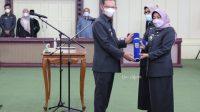 Gubernur Lantik Kadis Perpustakaan dan Karo Kesra Provinsi Lampung