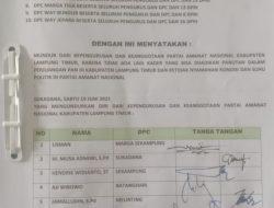 10 DPC PAN Lampung Timur Mundur Dari Kepengurusan Partai