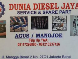 Agus Diesel Melayani Jasa Service dan Sparepart Injektor Solar di Seluruh Indonesia